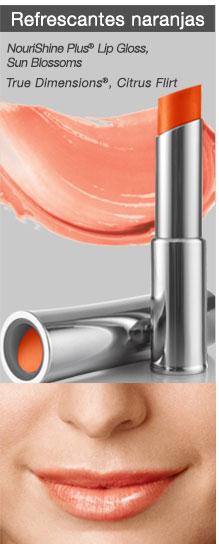 Refrescantes naranjas NouriShine Plus® Lip Gloss Sun Blossoms True Dimensions® Citrus Flirt