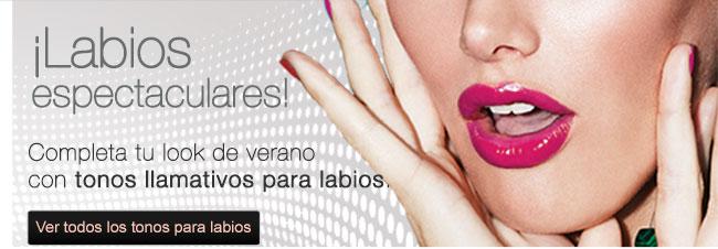Labios espectaculares Completa tu look de verano con tonos llamativos para labios. Ver todos los tonos para labios