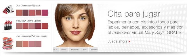 Cita para jugar Experimenta con distintos tonos para labios, peinados, accesorios y más con el makeover virtual Mary Kay® ¡GRATIS! Juega ahora