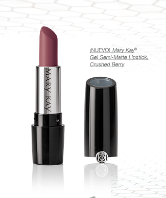 ¡NUEVO! Mary Kay® Gel Semi-Matte Lipstick, Crushed Berry