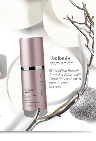 Radiante revelación. El TimeWise Repair® Revealing Radiance™ Facial Peel  profundiza para un efecto radiante.