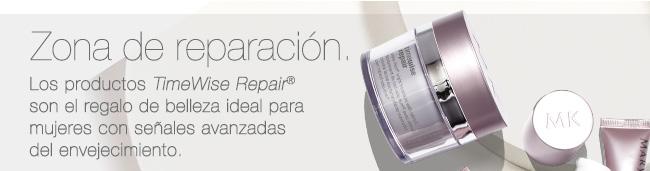 Zona de reparación. Los productos TimeWise Repair® son el regalo de belleza ideal para mujeres con señales avanzadas del envejecimiento.