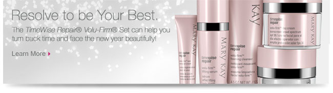Resolve to be Your Best.             The TimeWise Repair® Volu-Firm® Set can help you turn back time and face the new year beautifully!             Learn More
