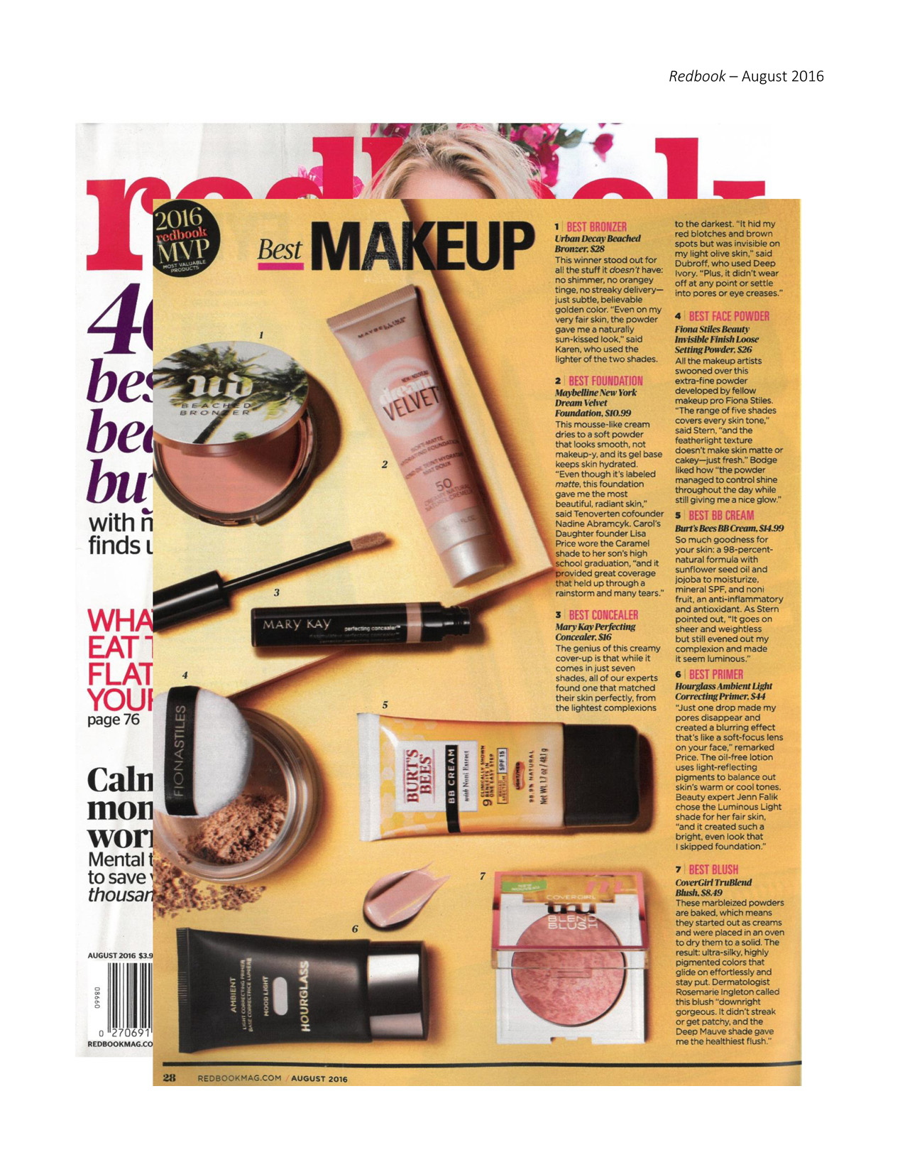 ... Perfecting Concealer as mentioned in Redbook ® magazine, August 2016