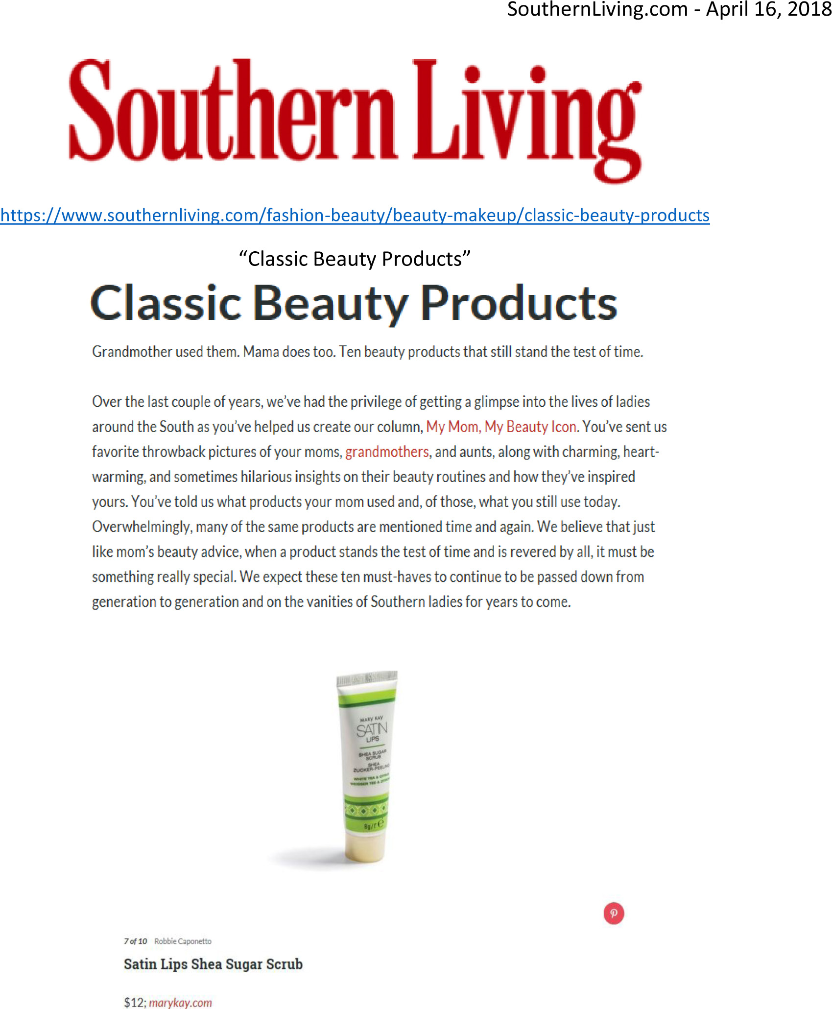 April 2018 for Southern living change of address