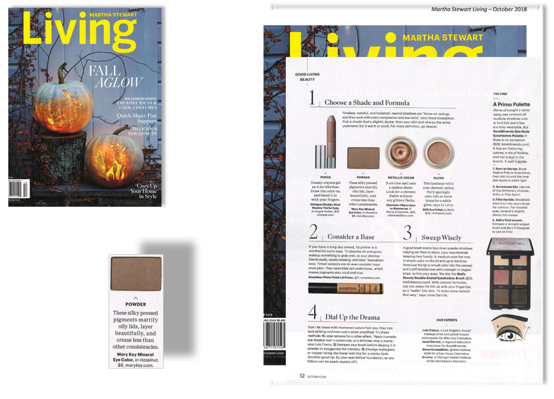 Mary Kay® Mineral Eye Color In Hazelnut As Mentioned In Martha Stewart  Living® Magazine, October 2018