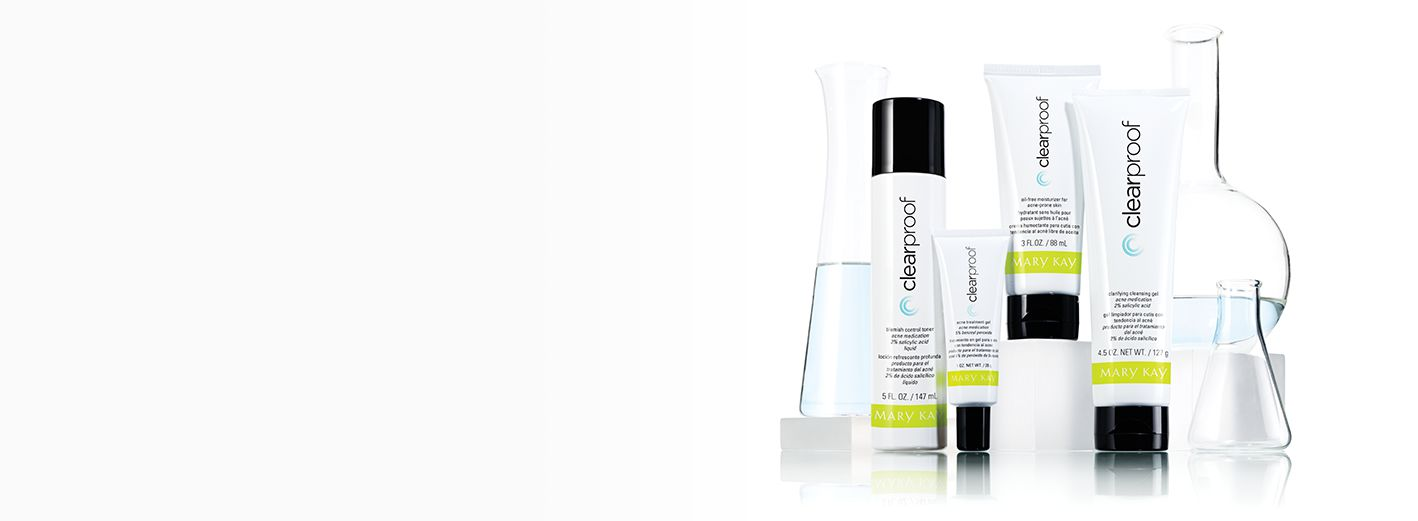 Clear Proof® Skin Care is shown in a clinical skin science setting.