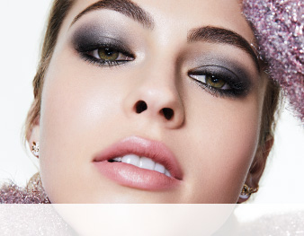 Model wearing a smoky eye from The Perfectly Imperfect Smoky Eye makeup artist look by Mary Kay makeup artist Keiko Takagi.