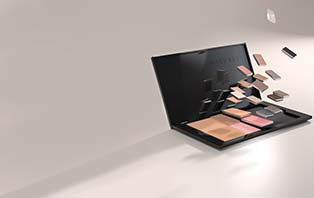 Pans of makeup appear to fall into place within the new Mary Kay Pro Palette™.
