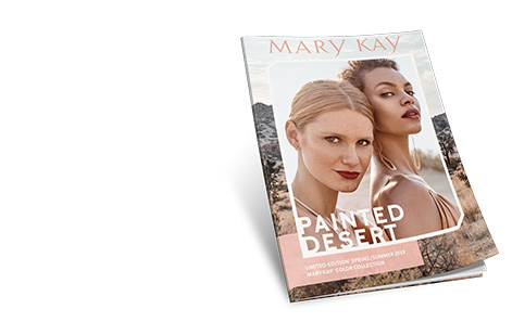 Cover of the Mary Kay® eCatalog shows two models wearing makeup looks inspired by the spring trend.