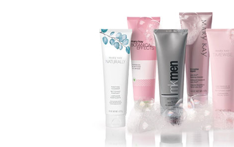Mary Kay Cleanser tubes with suds