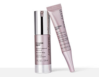 Primer plano del TimeWise Repair® Volu-Firm® Advanced Lifting Serum y el TimeWise Repair® Volu-Fill® Deep Wrinkle Filler.