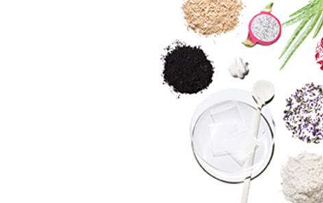 Ingredients in their raw state against a white background representing Mary Kay products.