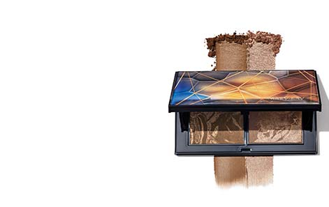 Open limited-edition† Beauty Unearthed Mary Kay Perfect Palette™ with product rubs extending above and below