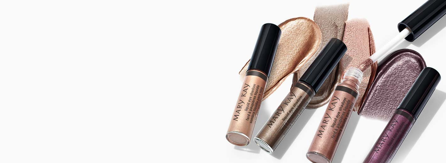 Mary Kay® Liquid Eye Shadows are on display