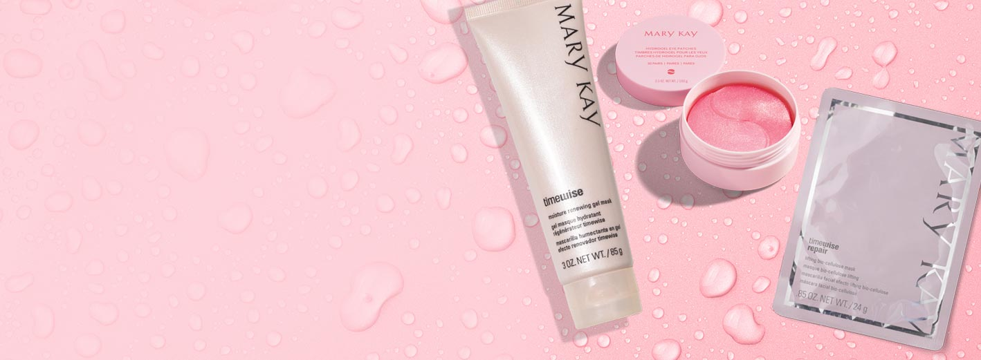 Mary Kay® products that can contribute to skin hydration.