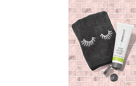 Get a FREE limited-edition Mary Kay® Masking Towel when you purchase the Clear Proof® Deep-Cleansing Charcoal Mask.