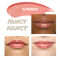 Mary Kay Unlimited™ Lip Gloss in Fancy Nancy on light ivory, beige and bronze skin tones