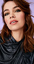 Close-up of model wearing Glimmer and Glam makeup artist look from Mary Kay