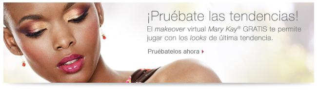 ¡Pruébate las tendencias! El <i>makeover</i> virtual <i>Mary Kay</i>® GRATIS te permite jugar con los <i>looks</i> de última tendencia. Pruébatelos ahora