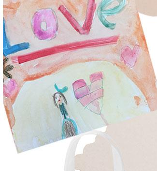 Tarjeta dibujada a mano para el Día de las Madres
