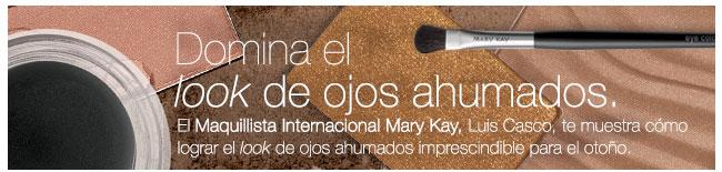 Domina el look de ojos ahumados. El Maquillista InternacionalMary Kay, Luis Casco, te muestra cómo lograr el look de ojos ahumados imprescindible para el otoño.