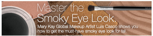Master the Smokey Eye Look, Mary Kay Global Makeup Artist Luis Casco shows you how to get the must-have smokey eye look for fall.