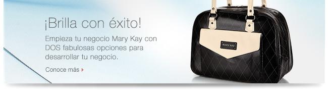 ¡Brilla con Éxito!             Empieza tu negocio Mary Kay con DOS fabulosas opciones para desarrollar tu negocio.             Conoce más
