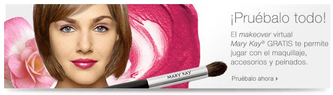 ¡Pruébalo todo! El <i>makeover</i> virtual <i>Mary Kay</i>® GRATIS te permite jugar con el maquillaje, accesorios y peinados. Pruébalo ahora