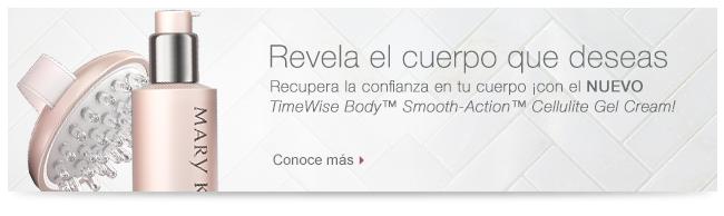 Revela el cuerpo que deseas Recupera la confianza en tu cuerpo ¡con el NUEVO <i>TimeWise Body</i>™ <i>Smooth Action</i>™ <i>Cellulite Gel Cream</i>! Conoce más  >