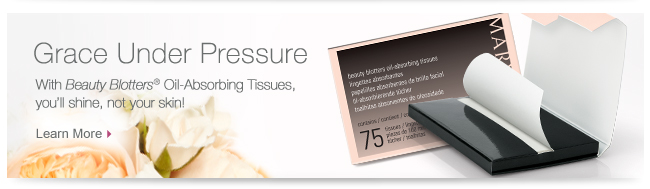 Grace Under Pressure. With Beauty Blotters® Oil-Absorbing Tissues, you'll shine, not your skin! Learn More.