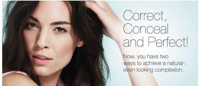 Correct, Conceal and Perfect! Now, you have two ways to achieve a natural-even-looking complexion.