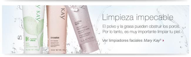 Limpieza impecable. El polvo y la grasa pueden obstruir los poros. Por lo tanto, es muy importante limpiar tu piel. Ver limpiadoras faciales <i>Mary Kay</i>®