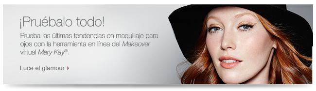 ¡Pruébalo todo! Prueba las últimas tendencias en maquillaje para ojos con la herramienta en línea del <i>Makeover</i> virtual <i>Mary Kay</i>®. Luce el glamour.
