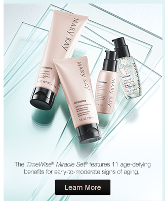 The TimeWise® Miracle Set® features 11 age-defying benefits for early-to-moderate signs of aging. Learn More.