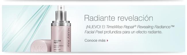 Radiante revelación  ¡NUEVO! El <i>TimeWise Repair</i>® <i>Revealing Radiance</i>™ <i>Facial Peel</i>  profundiza para un efecto radiante. Conoce más