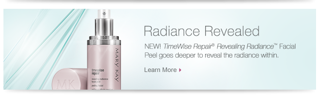 Radiance Revealed NEW! TimeWise Repair® Revealing Radiance™ Facial Peel goes deeper to reveal the radiance within. Learn More.
