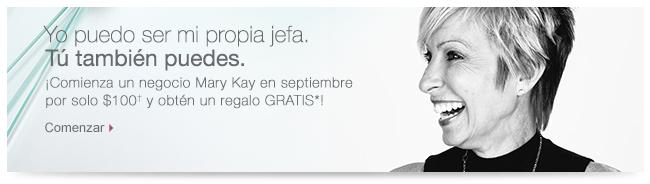 ¡Tú puedes amar la vida que tienes! ¡Comienza un negocio Mary Kay en septiembre por solo $100 y obtén un regalo GRATIS*! Comenzar