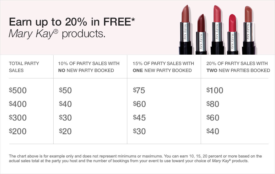 Be rewarded when you host a Mary Kay® party.